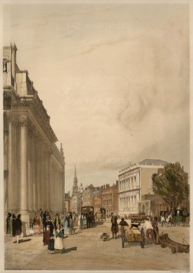 """Thomas Shotter Boys, 'Board of Trade. Whitehall &c, from Downing Street.' An original colour lithograph. 13"""" x 17"""". £POA."""
