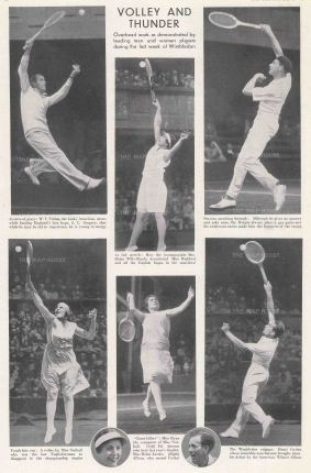 The Graphic Magazine: Wimbledon, 1930. Vintage photo-lithograph, 9 x 13 inches. [SPORTSp3492]
