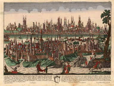 "Georg Balthasar Probst, 'Constantinopolis', c.1740. An original hand-coloured copper-engraving. 13"" x 17"". £POA."