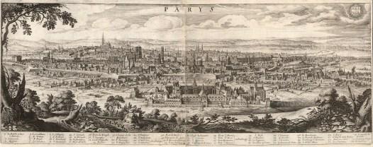 "Matthäus Merian, 'Paris', c.1670. An original black and white copper engraving. 11"" x 28"". £POA"