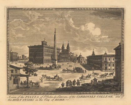 Moll: Rome. Copper-engraving, c. 1745. 10 x 7 inches. [ITp2211]