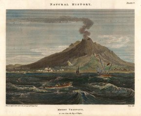 Duppa: Mount Vesuvius, Naples. Hand-coloured copper engraving, 1797. [ITp2237]
