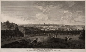 "John Boydell, 'The View from One-tree Hill in Greenwich Park', 1774. An original black and white copper-engraving. Framed. 19"" x 28"". £POA."