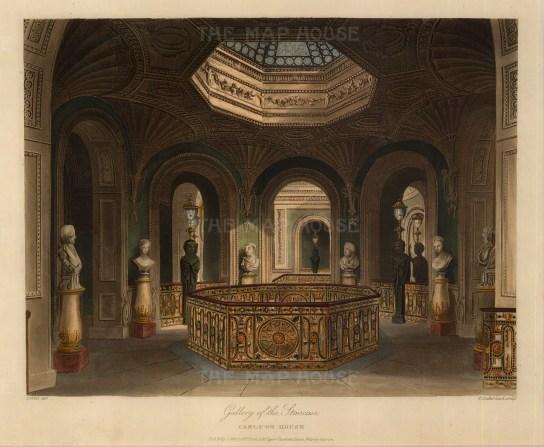 """Pyne, 'Carlton House', gallery of the staircase, 1819, An original colour aquatint. 9"""" x 12"""", £POA"""