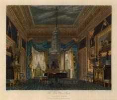 "Pyne, 'Carlton House', the blue velvet closet, 1818. An original colour aquatint. 9"" x 12"". £POA."