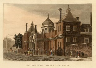 "John Papworth, 'Montague House - Now the British Museum', 1816. 6"" x 8"". £POA."