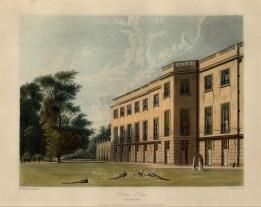 """Pyne, 'Carlton House', southern facade, 1819. An original colour aquatint. 9"""" x 12"""". £POA."""