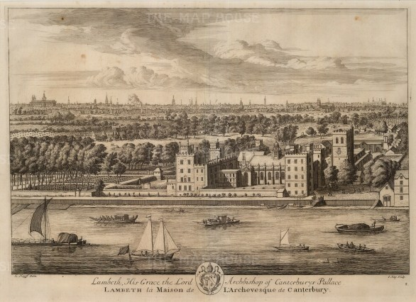 "Kip, 'Lambeth Palace', 1715. An original black and white copper-engraving. 14"" x 19"". £POA."