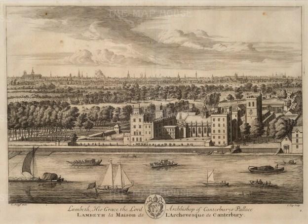 "Kip, 'Lambeth Palace', 1715. An original black and white copper-engraving. 14"" x 19"". £POA."