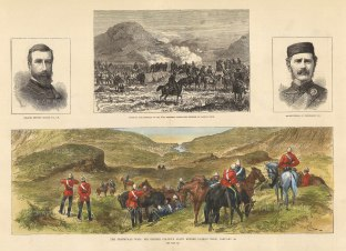 The Illustrated London News: First Anglo-Boer War, Transvaal. 1881. A hand-coloured original antique wood-engraving. 18 x 6 inches. [AFRp1354]