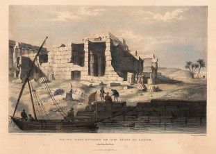 Capt. Head: Luxor. 1833. An original colour antique lithograph. 11 x 16 inches. [EGYp379]