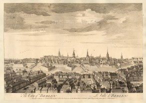 "Sayer, 'The City of Berlin', 1774. An original black and white copper engraving. 12"" x 18"". £POA."