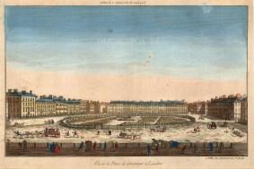"Vue D'Optique, Grosvenor Square, 1760. An original colour copper-engraving. 11"" x 15"". £POA"