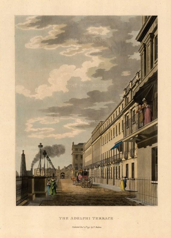 "Thomas Malton, Adelphi Terrace, 1800. A hand-finished aquatint. 11"" x 14"". £POA"