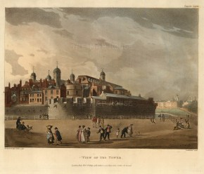 "Ackermann, View of the Tower of London, 1809. An original colour aquatint. 9"" x 11"". £POA"