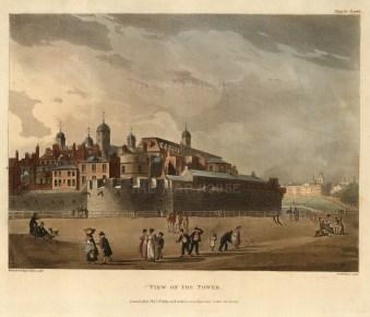 "Ackermann, View of the Tower of London, 1809. An original colour aquatint. 9"" x 11"". £POA"