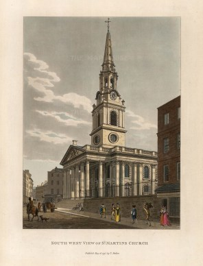 "Thomas Malton, 'South West View of St. Martin's Church, 1795. An original hand-finished aquatint. 11"" x 14"". £POA"