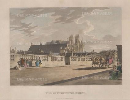 "Thomas Malton, View of Westminster Bridge, 1792. An original colour aquatint. 11"" x 14"". £POA"