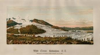 "Edward Wakefield, 'White Terrace, Rotowahana', 1880. An original chromo-lithograph. 10"" x 17"". £POA."