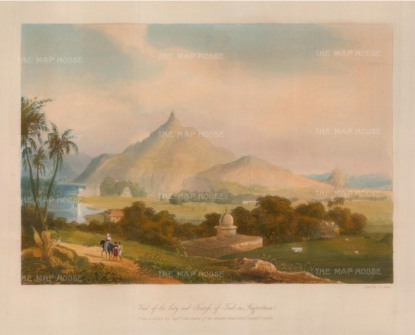 "Robert Melville Grindlay, 'Rajpootana', 1830. An original colour aquatint. 8"" x 12"". £POA."
