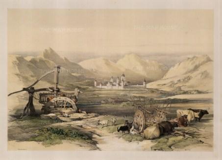 "David Roberts, ""The Escurial"", 1837. A hand-coloured original lithograph. 13"" x 18"". £POA."