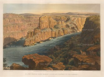Baines: Zambesi River, Zambia and Zimbabwe 1865. An original antique colour lithograph. 17 x 13 inches [AFRp1191]