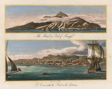 Sherwood, Neely & Jo: St. Crois, Tenerife. 1810. A hand-coloured original copper engraving. 7 x 5 inches. [AFRp1384]