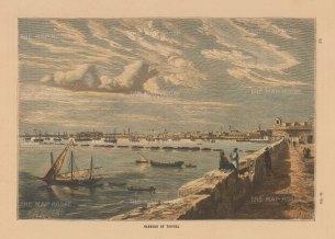 Collins: Tripoli, Libya. Circa 1880. A hand-coloured original antique wood-engraving. 8 x 5 inches. [AFRp1391]
