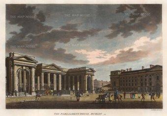 Malton: Dublin. 1793. A hand-coloured original antique aquatint. 17 x 13 inches. [IREp379]