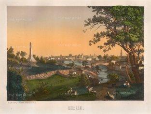 Sibler: Dublin. 1850. An original antique lithograph.12 x 15 inches. [IREp464]