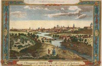 Millar: Dublin. 1777. A hand-coloured original copper-engraving. 10 x 6 inches. [IREp672]