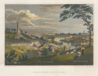 Petrie: Dublin. circa 1832. A hand-coloured original antique steel-engraving. 8 x 5 inches. [IREp685]