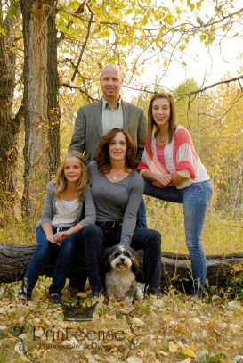 family on log