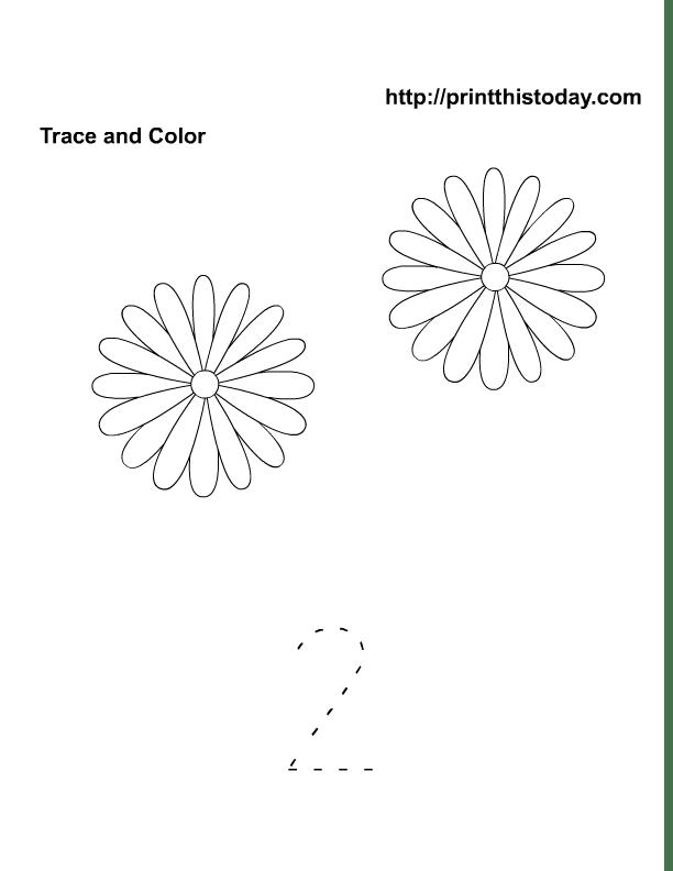 Free Printable Spring Flowers Math worksheets for Preschool