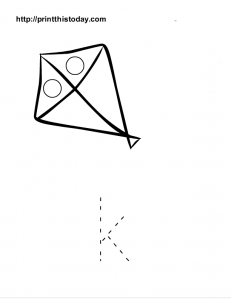 Free printable Alphabet tracing sheet, letter j
