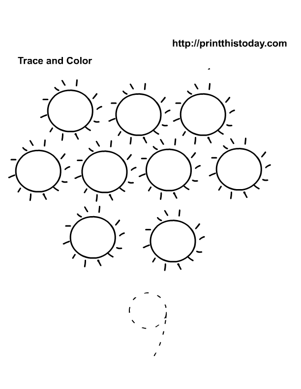 Free printable Summer Maths worksheets for preschool