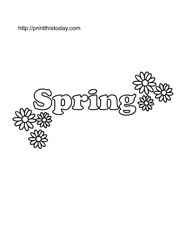 Free Printable Spring Coloring Pages for Kids