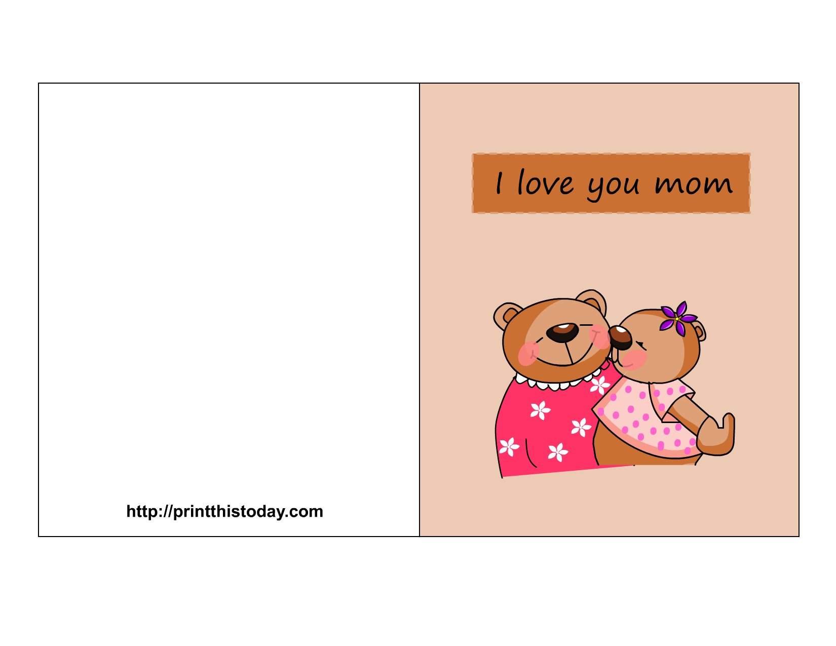 Free Mother's Day Coloring Pages Printable
