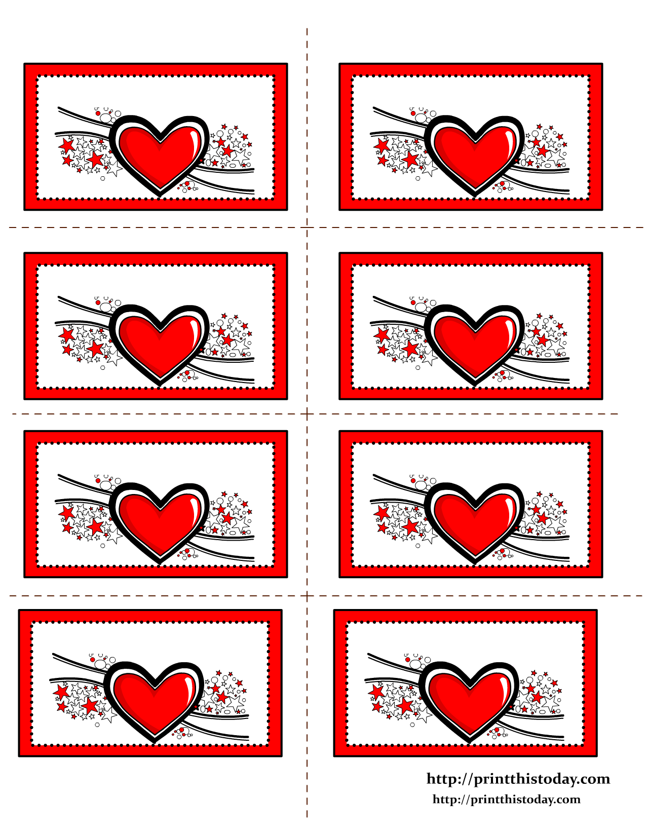 Free Printable Hearts Labels