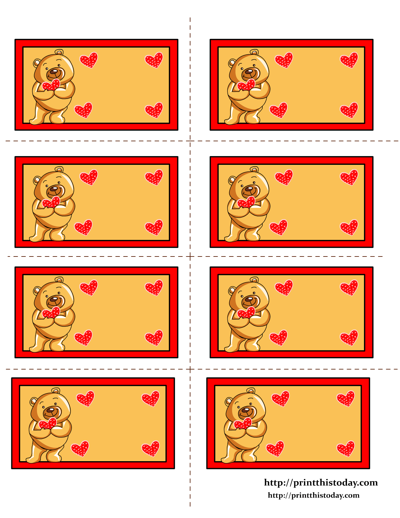 Free Printable Teddy Bear Labels