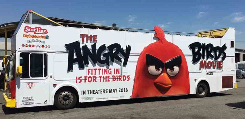 Massivit 1800 Angry Birds Bus