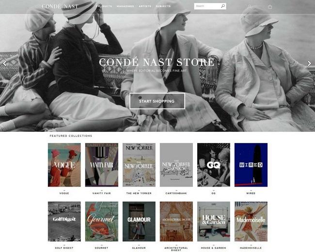 Conde Nast Store screen grab