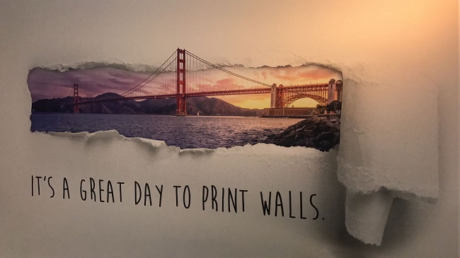 Golden Gate Bridge image printed on wall with Wallpen