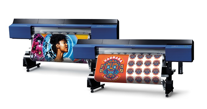 Roland TruVIS VG2 wide-format inkjet printer/cutters with graphics