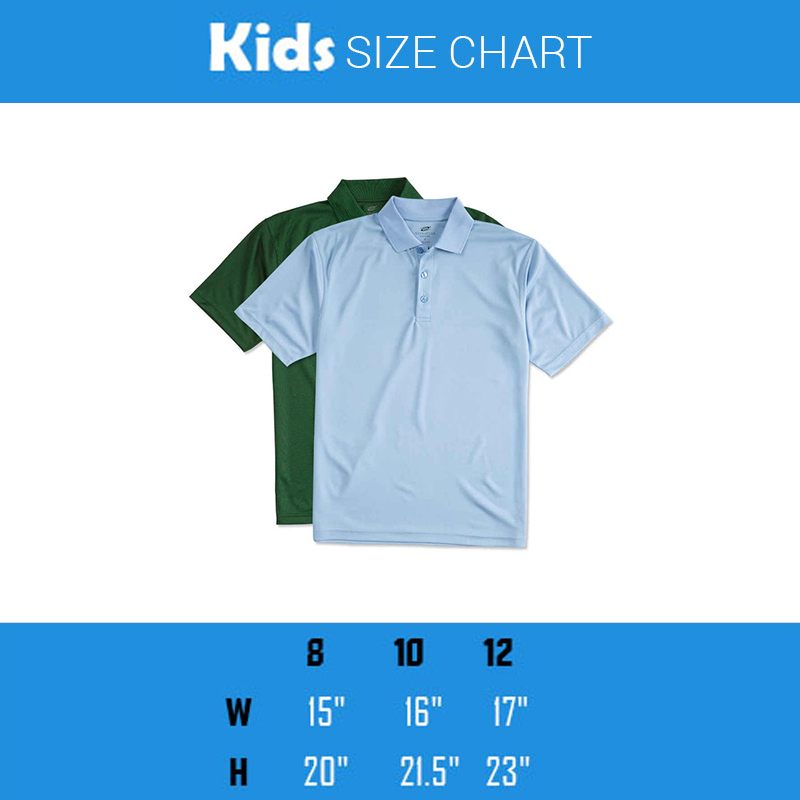 Size guide also winner polo kids print your design rh printyourdesign