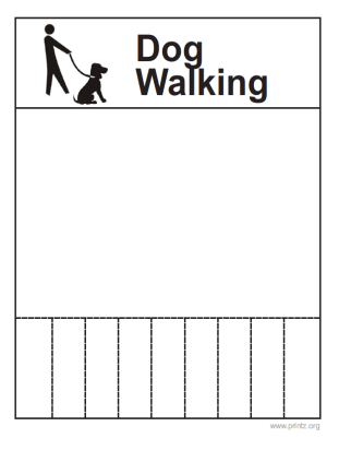 Dog Walking Flyers Examples