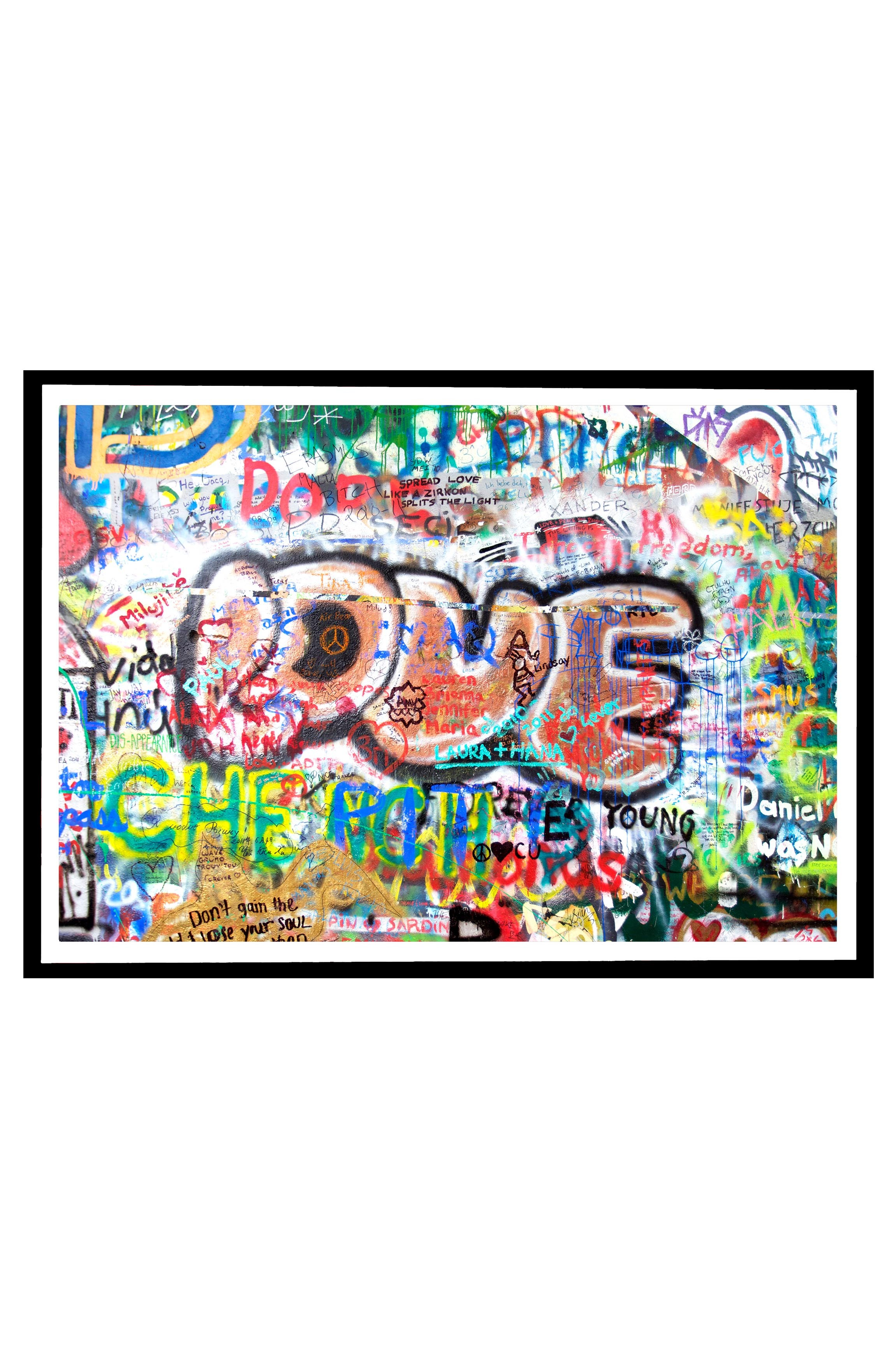 Poster With Frame Love Tag By Emmanuel Catteau Wall Art Prints Shop