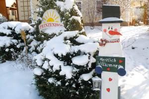 Prinzenhof Zugang im Winter