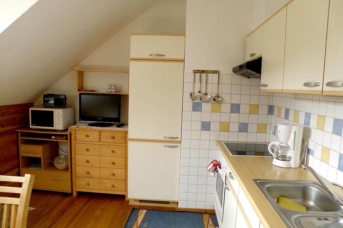 Ferienwohnung Träumerei, Küche, Prinzenhof