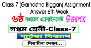 Class 7 Home Science (Garhostho Biggan) Assignment Answer 6th Week